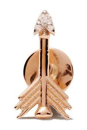 Milka 14kt arrow piercing diamond stud earring