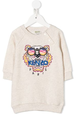 Kenzo Baby Casual Dresses - Tiger-embroidered sweatshirt dress
