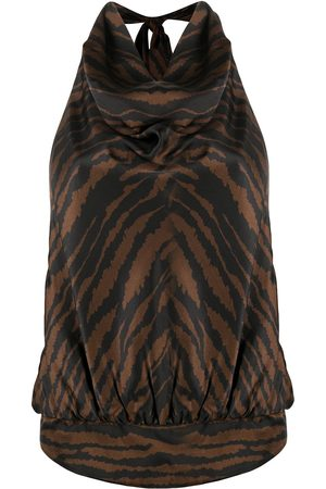 The Attico Zebra print sleeveless top