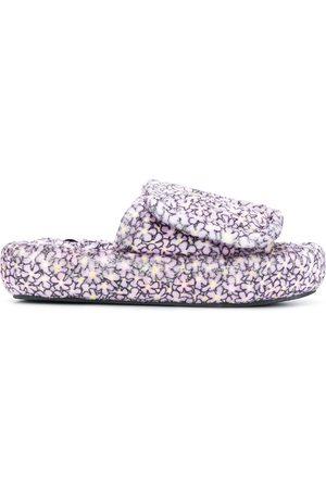 Natasha Zinko Floral-print slippers