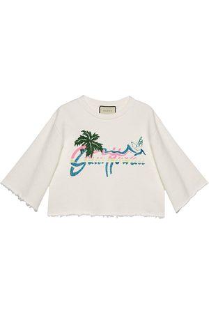 Gucci Women Sweatshirts - Hawaii cropped sweatshirt