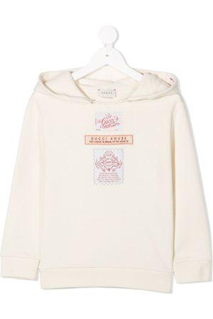 Gucci Boys Hoodies - Logo patch detail hoodie