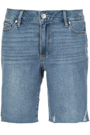 Paige Jax mid-rise distressed shorts