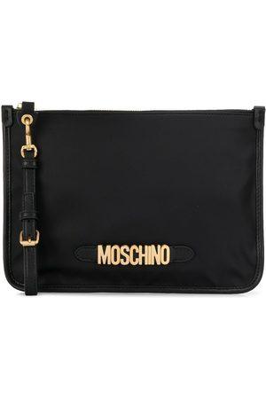 Moschino Logo zip clutch bag