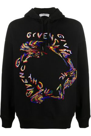 Givenchy Beaded distorted logo hoodie
