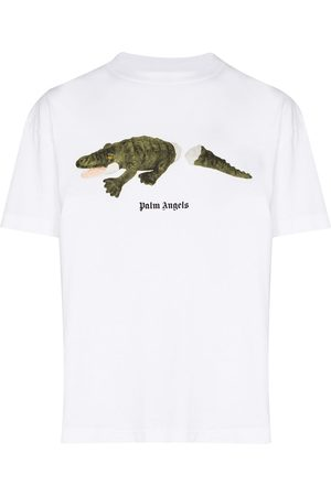 Palm Angels Crocodile-print T-shirt