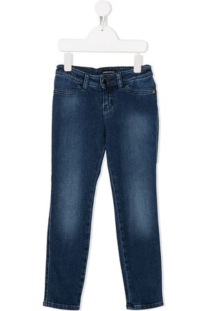 Emporio Armani Stonewashed fitted jeans
