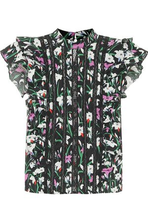 VERONICA BEARD Sol floral cotton-blend top
