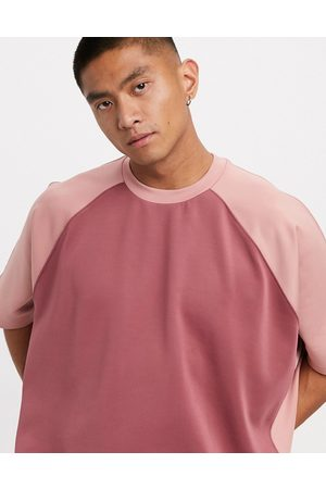 ASOS Men Short Sleeve - Extreme oversized t-shirt in polytricot in tonal
