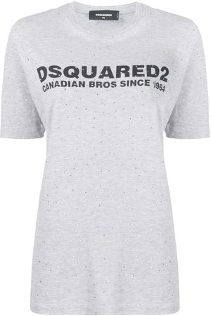Dsquared2 Stud embellished logo printed T-shirt