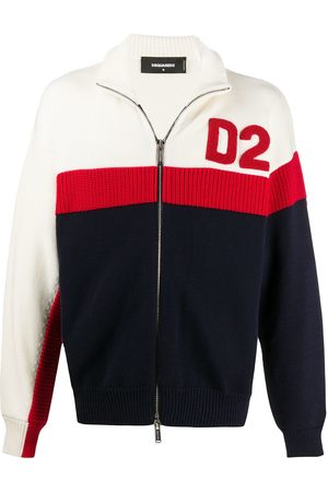 Dsquared2 D2 zipped front cardigan