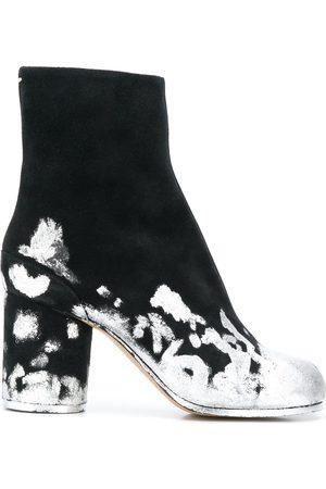 Maison Margiela Metallic-splatter tabi-toe boots
