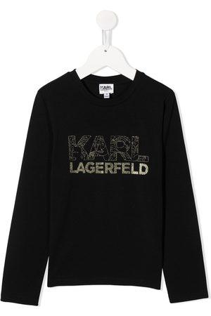 Karl Lagerfeld Glitter logo sweatshirt