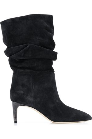 PARIS TEXAS Ruched ankle boots