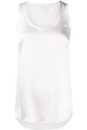 Brunello Cucinelli Plain crew-neck tank top