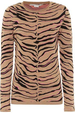 Stella McCartney Leopard-print intarsia wool-blend sweater