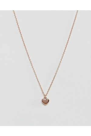 Ted Baker Hara tiny heart pendant necklace in rose