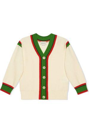 Gucci Web stripe cardigan