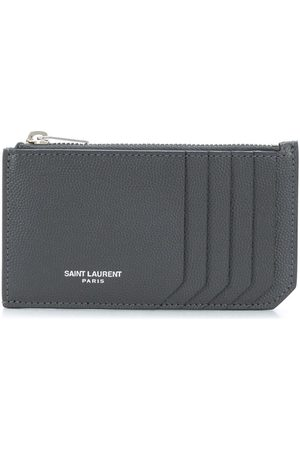 Saint Laurent Zip-fastened leather cardholder