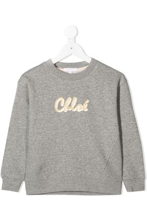 Chloé Glitter logo sweatshirt