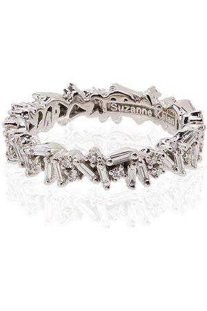 Suzanne Kalan 18kt white gold Icon baguette diamond ring