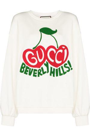 Gucci Cherry print cotton sweatshirt