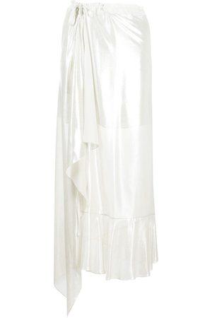 Parlor Draped wrap-style skirt