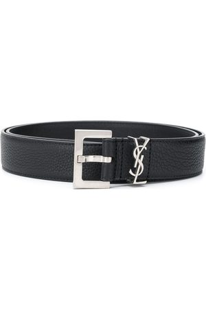 Saint Laurent Grained leather belt