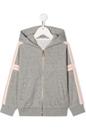 Chloé Stripe-side hooded sweatshirt