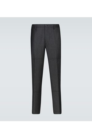 Lanvin Wool-blend patch pants