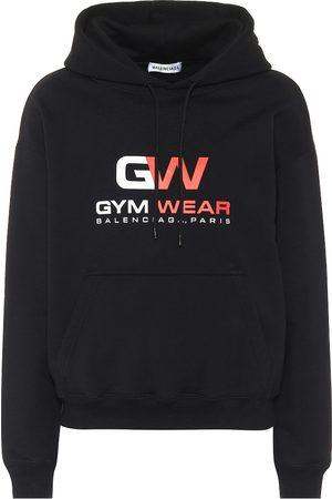 Balenciaga Cotton-fleece hoodie