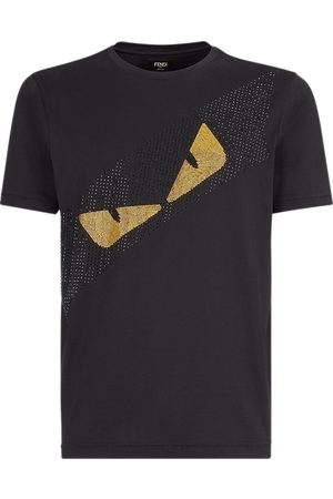 Fendi Crystal detail Bag Bugs motif T-shirt