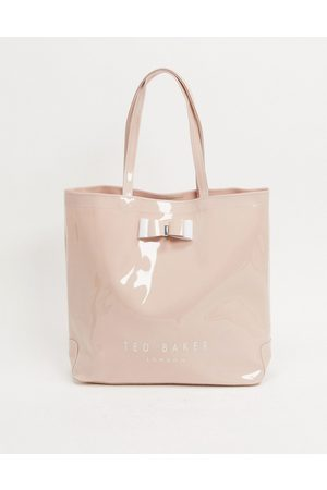 Ted Baker Hanacon patent bow large icon bag