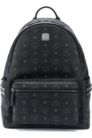 MCM Studded logo-print backpack