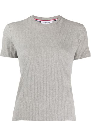 Thom Browne Short Sleeve Tee In High Twisted Rib