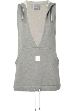 CHANEL Sleeveless hooded top