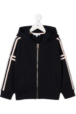 Chloé Side stripe zipped hoodie