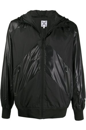 Kenzo Contrast panel hooded jacket