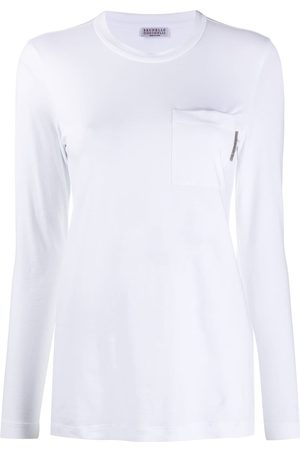Brunello Cucinelli One pocket crew neck top