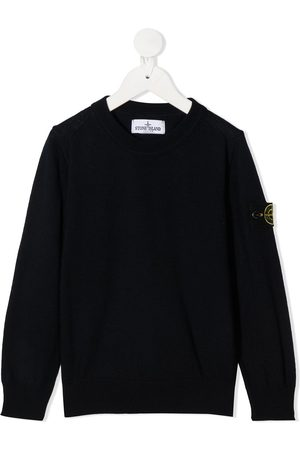 Stone Island Logo patch crew neck jumper