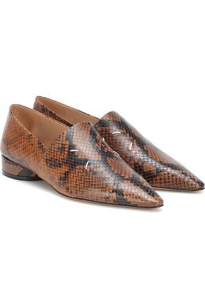 Maison Margiela Snake-effect leather shoes