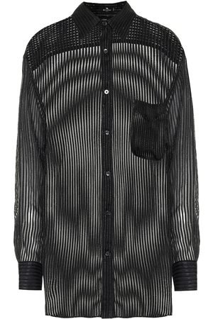 Etro Sheer silk-blend shirt