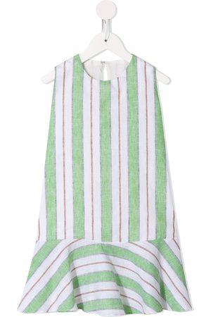 Little Bambah Striped ruffled-hem dress
