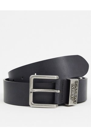 Armani Men Belts - Logo keeper belt in