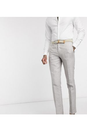 Twisted Tailor Men Skinny Pants - TALL slim linen suit trousers in
