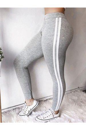 YOINS Patch Stripe Bodycon Fit Casual Pants