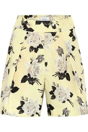 Erdem Howard high-rise floral cotton shorts
