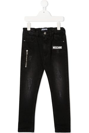 Moschino Distressed skinny jeans