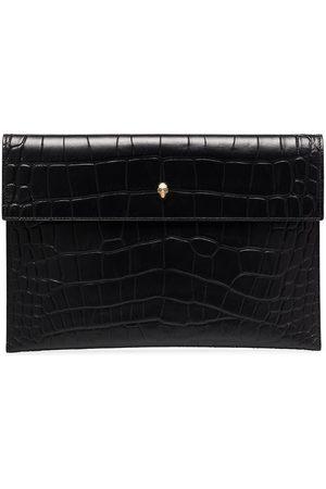 Alexander McQueen Mock croc leather envelope clutch bag