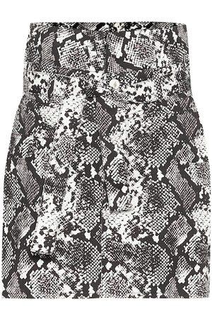 The Attico Virgi python-print cotton miniskirt